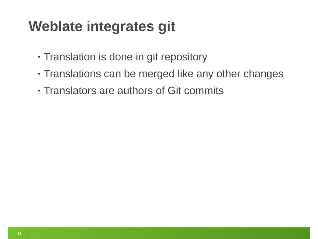 11 Weblate integrates git • Translation is done...