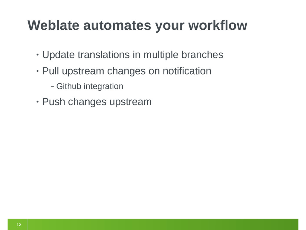 12 Weblate automates your workflow • Update tra...