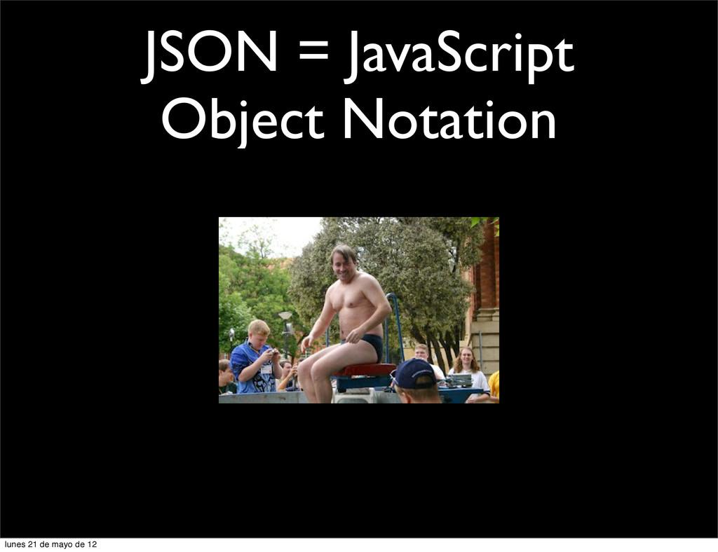 JSON = JavaScript Object Notation lunes 21 de m...