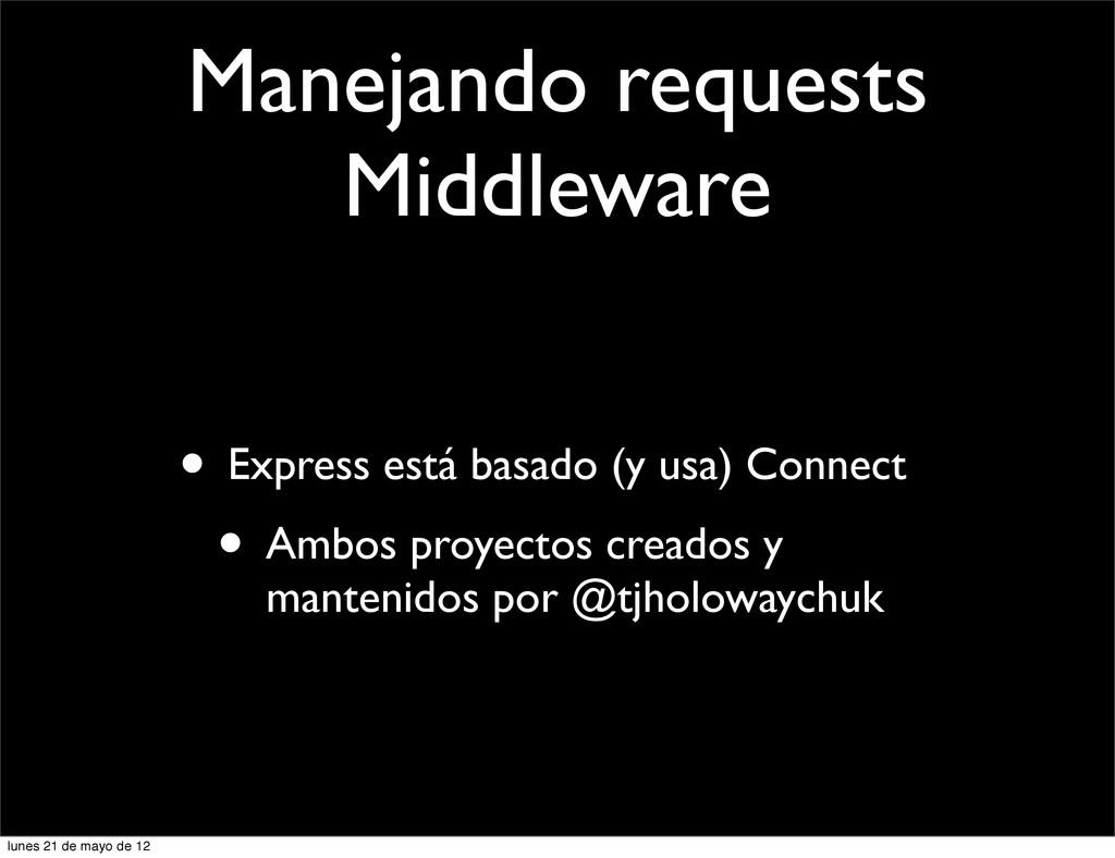 Manejando requests Middleware • Express está ba...