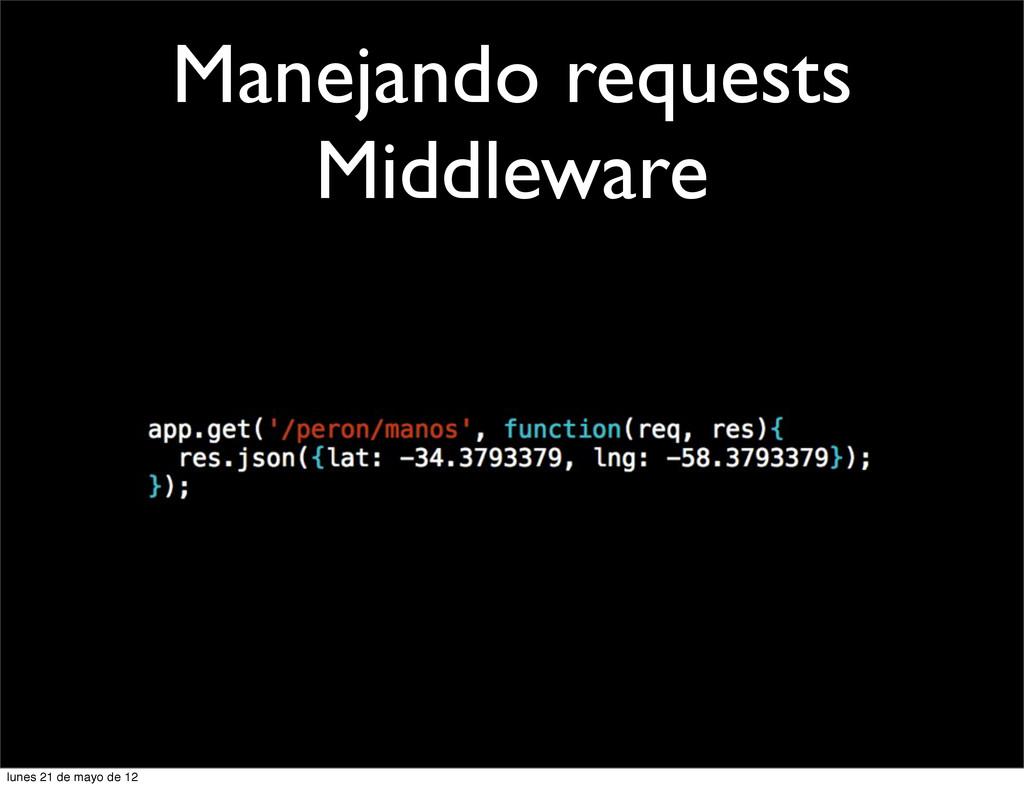 Manejando requests Middleware lunes 21 de mayo ...