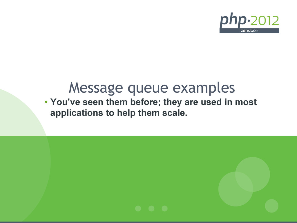 Message queue examples • You've seen them befo...