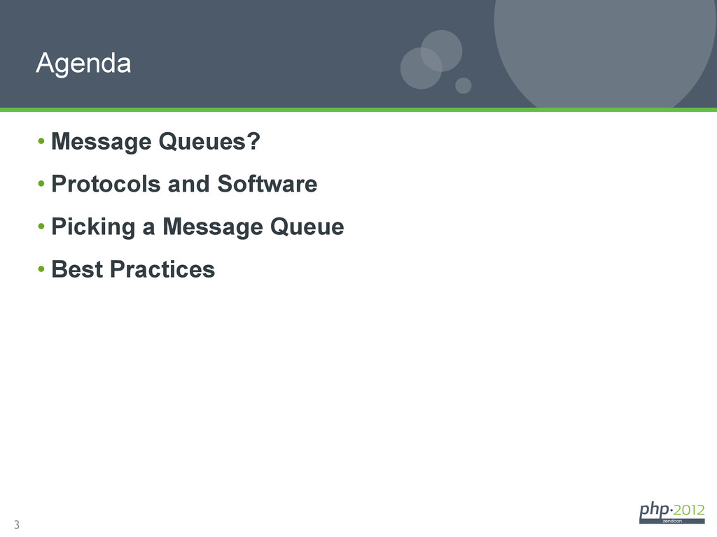 3 •Message Queues? •Protocols and Software •...