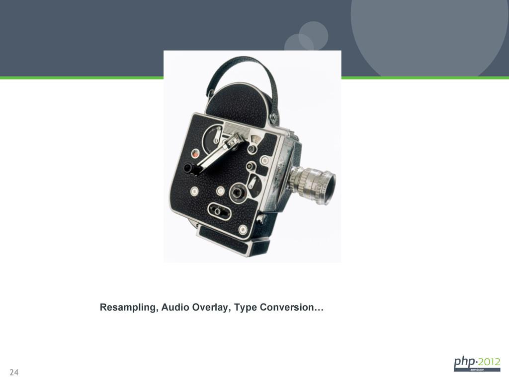 24 Video Processing Resampling, Audio Overlay, ...