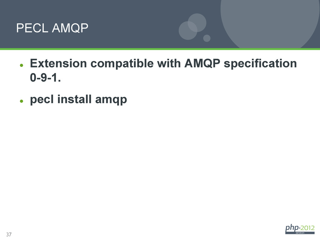 37 l Extension compatible with AMQP specifica...