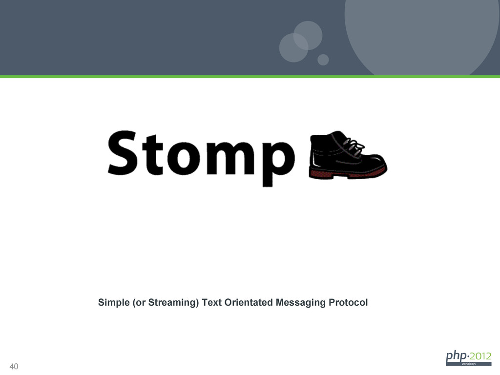 40 STOMP Simple (or Streaming) Text Orientated ...