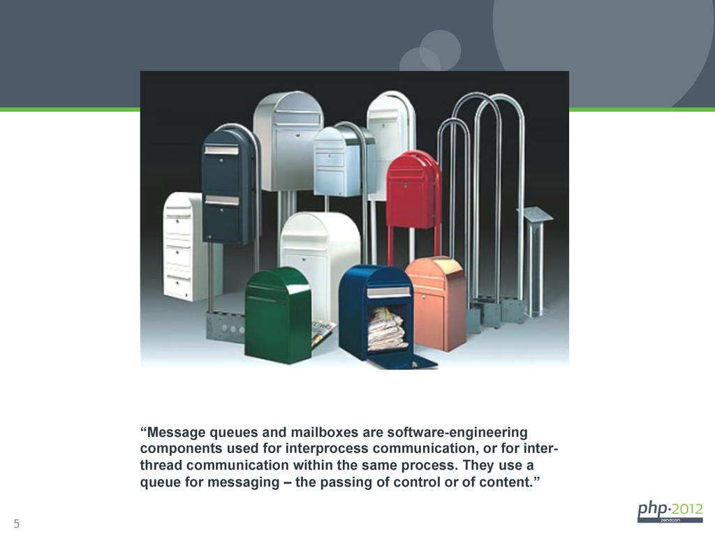 """5 A Definition """"Message queues and mailboxes ar..."""