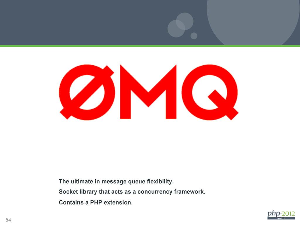 54 ZeroMQ The ultimate in message queue flexibi...