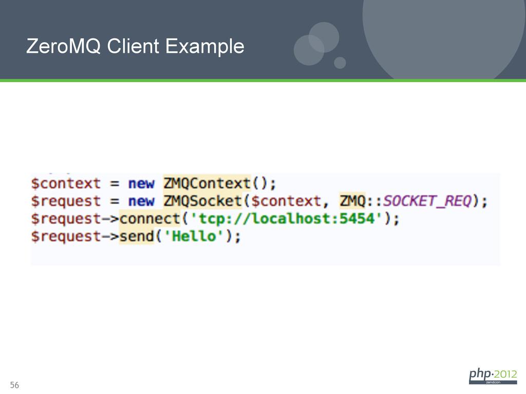 56 ZeroMQ Client Example