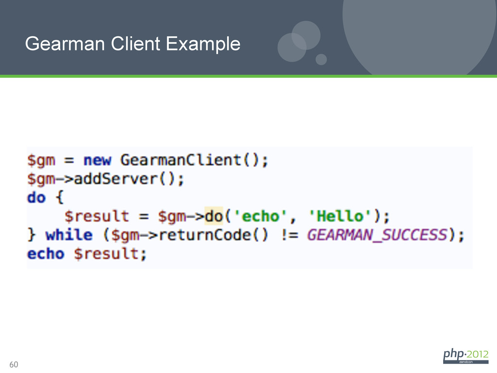 60 Gearman Client Example