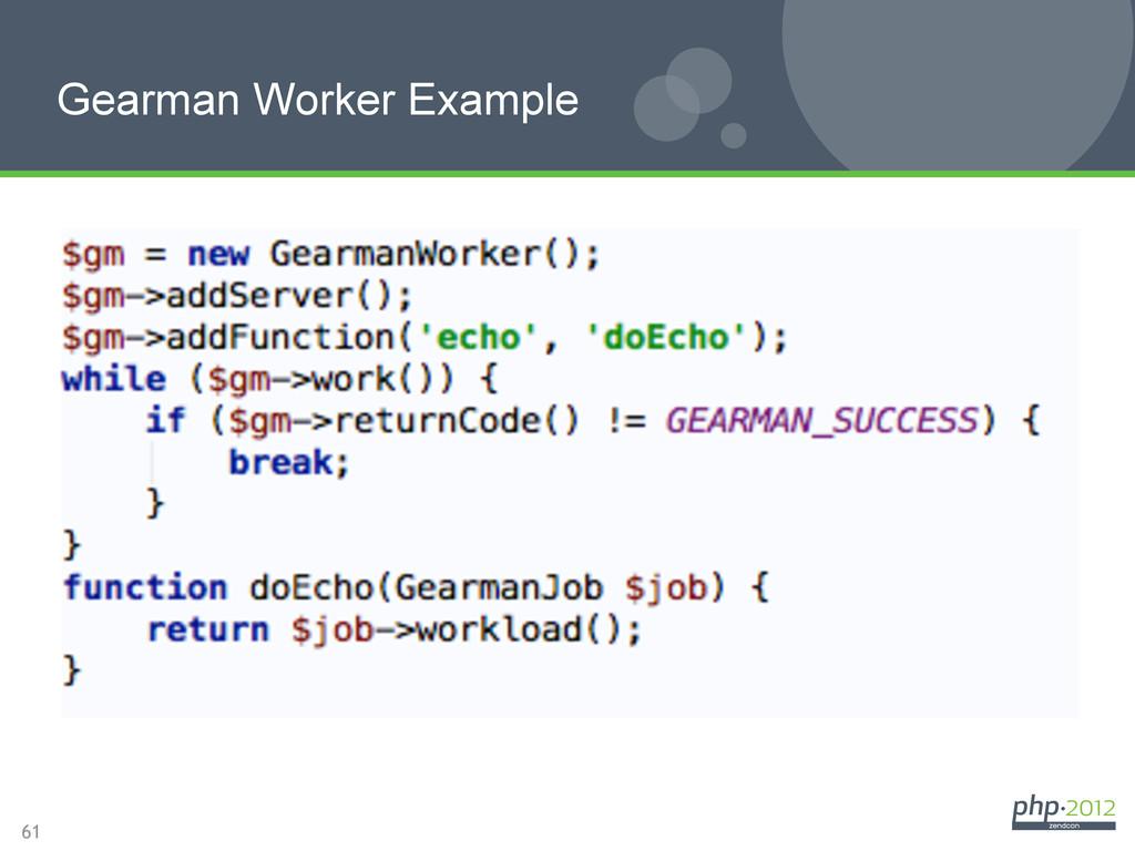 61 Gearman Worker Example