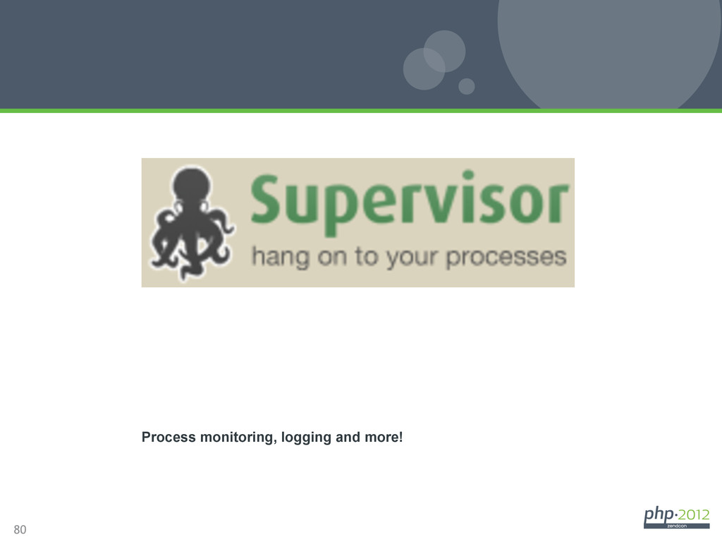 80 Supervisord Process monitoring, logging and ...