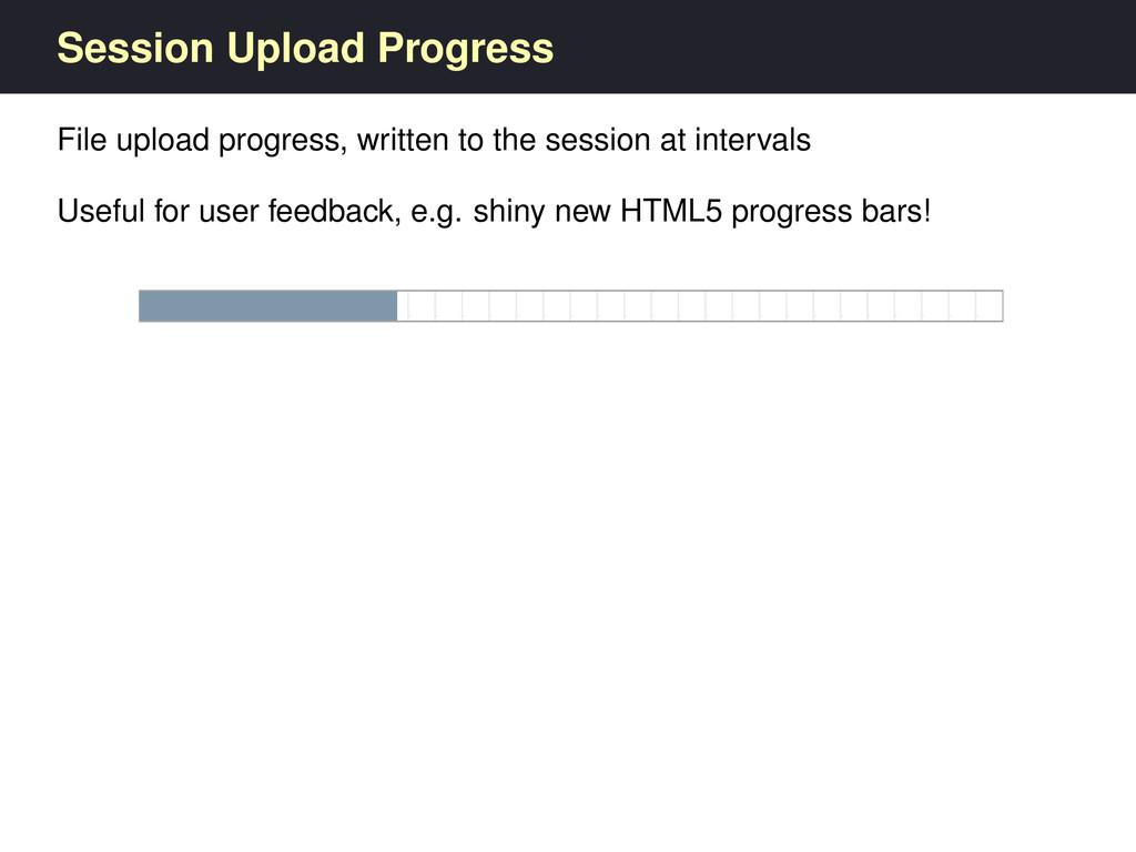 Session Upload Progress File upload progress, w...