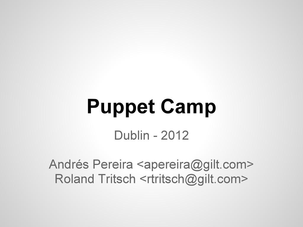 Puppet Camp Dublin - 2012 Andrés Pereira <apere...