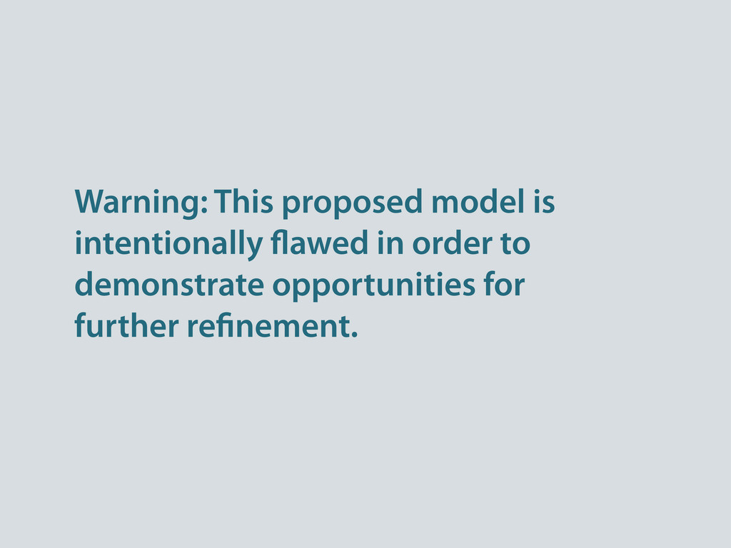 Warning: This proposed model is intentionally a...