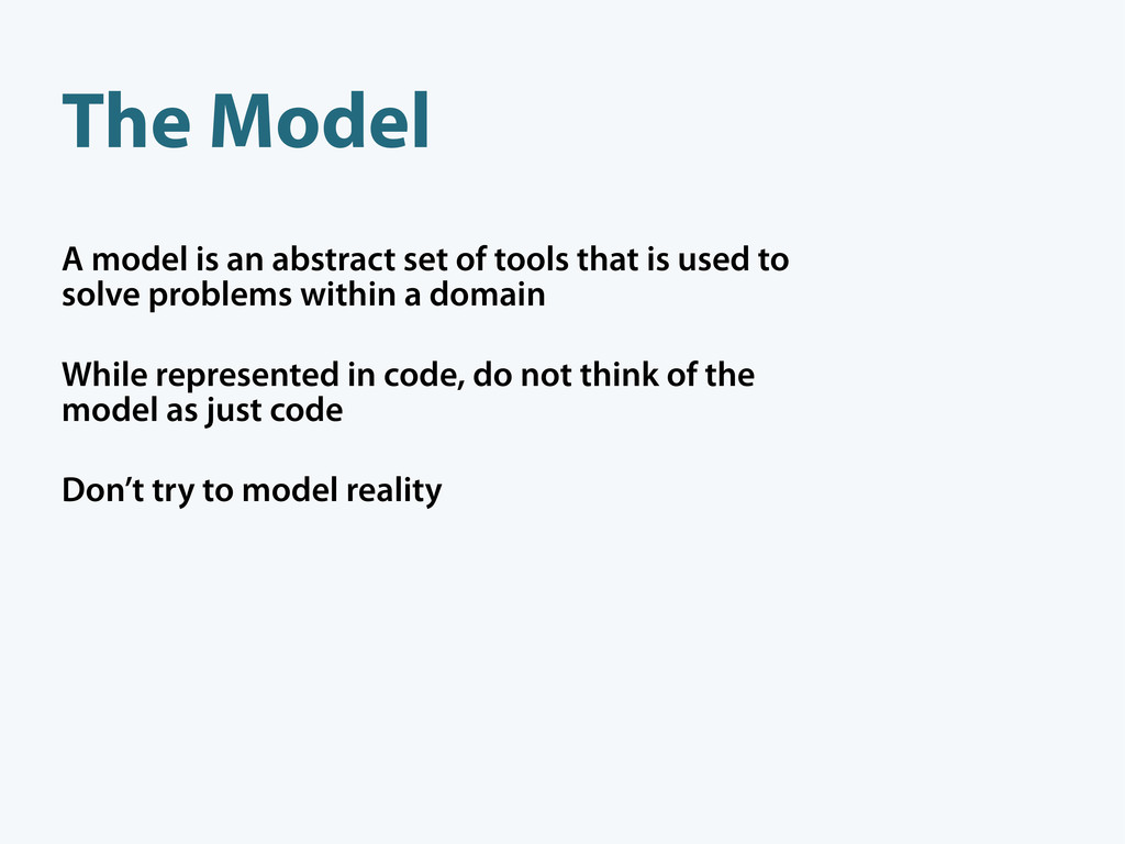 A model is an abstract set of tools that is use...