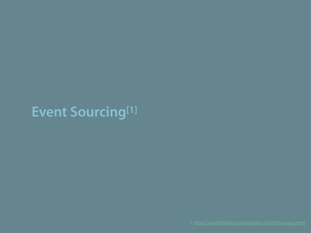 Event Sourcing[1] 1. http://martinfowler.com/ea...