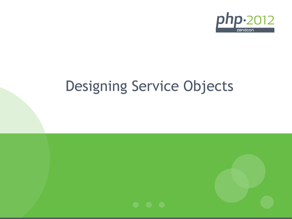 Designing Service Objects
