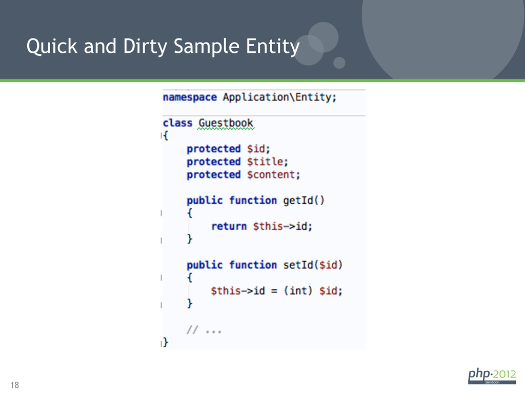 18 Quick and Dirty Sample Entity