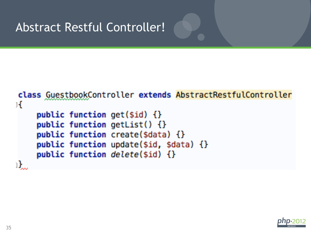 35 Abstract Restful Controller!