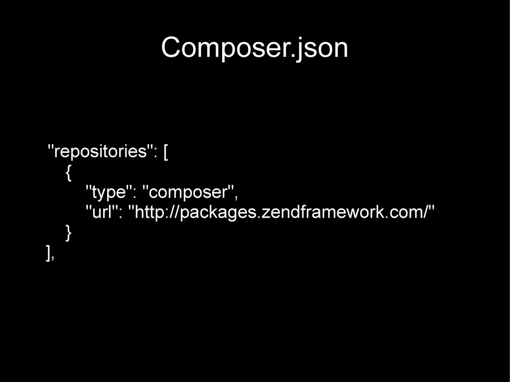 "Composer.json ""repositories"": [ { ""type"": ""comp..."