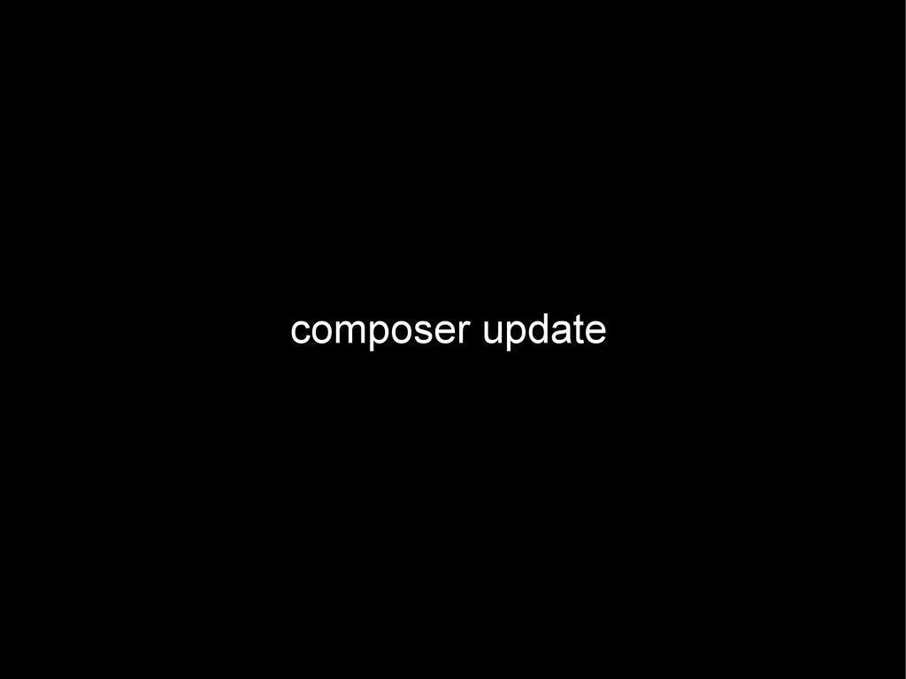composer update
