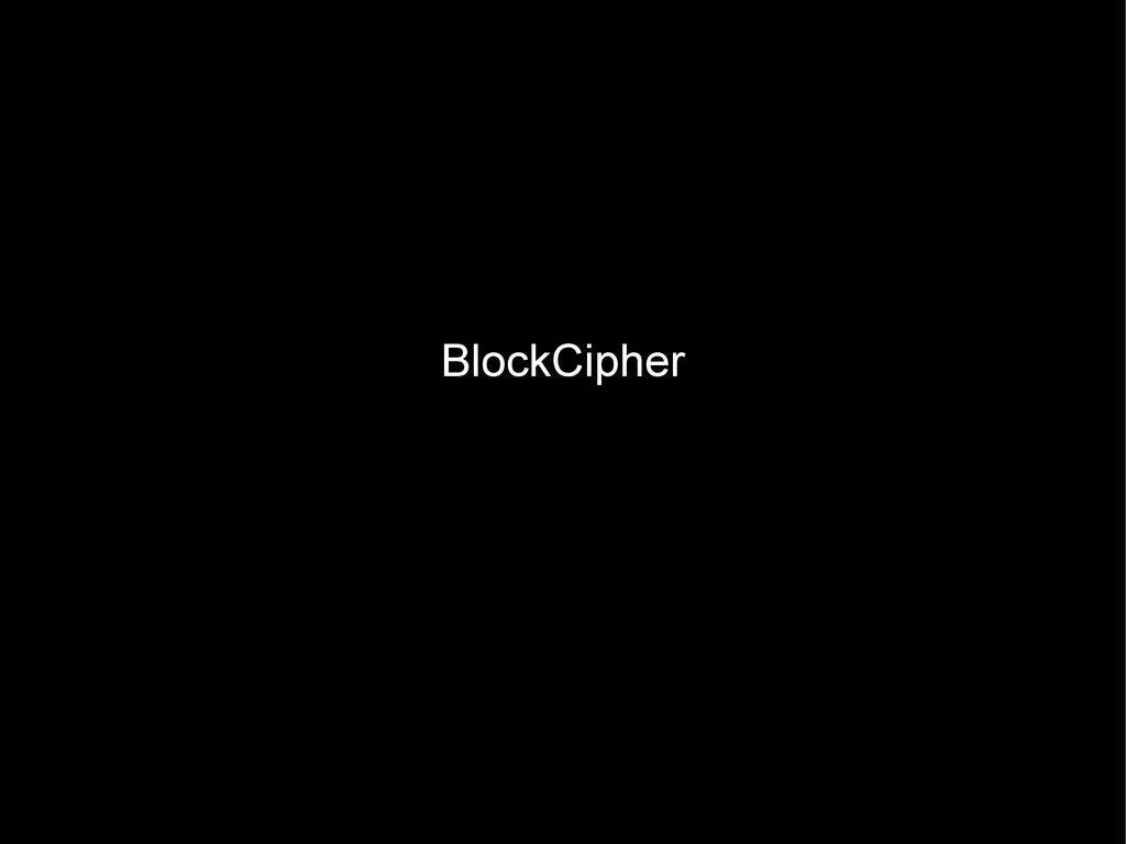 BlockCipher