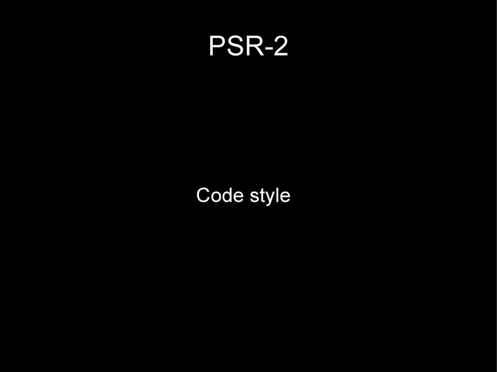 PSR-2 Code style