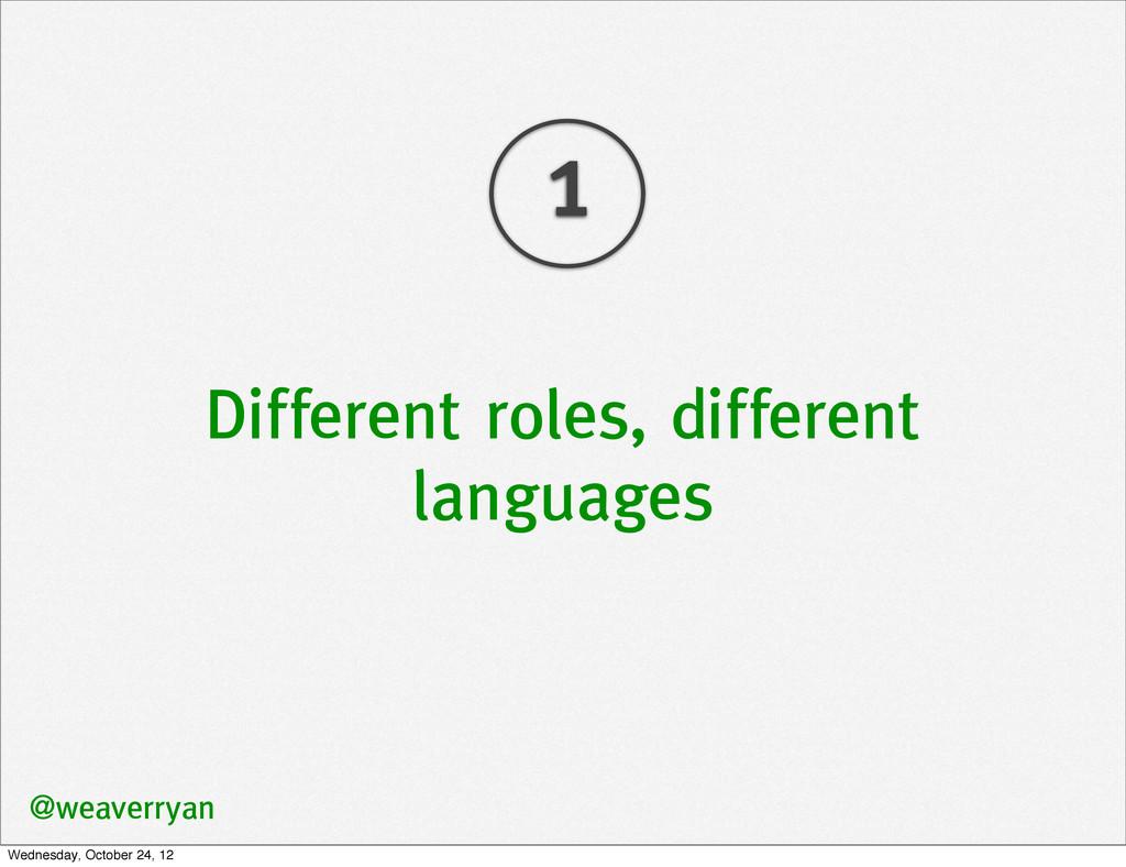 Different roles, different languages @weaverrya...