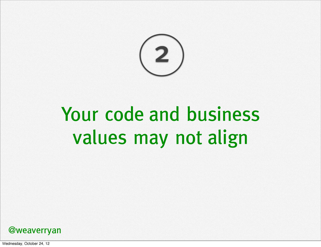 Your code and business values may not align @we...