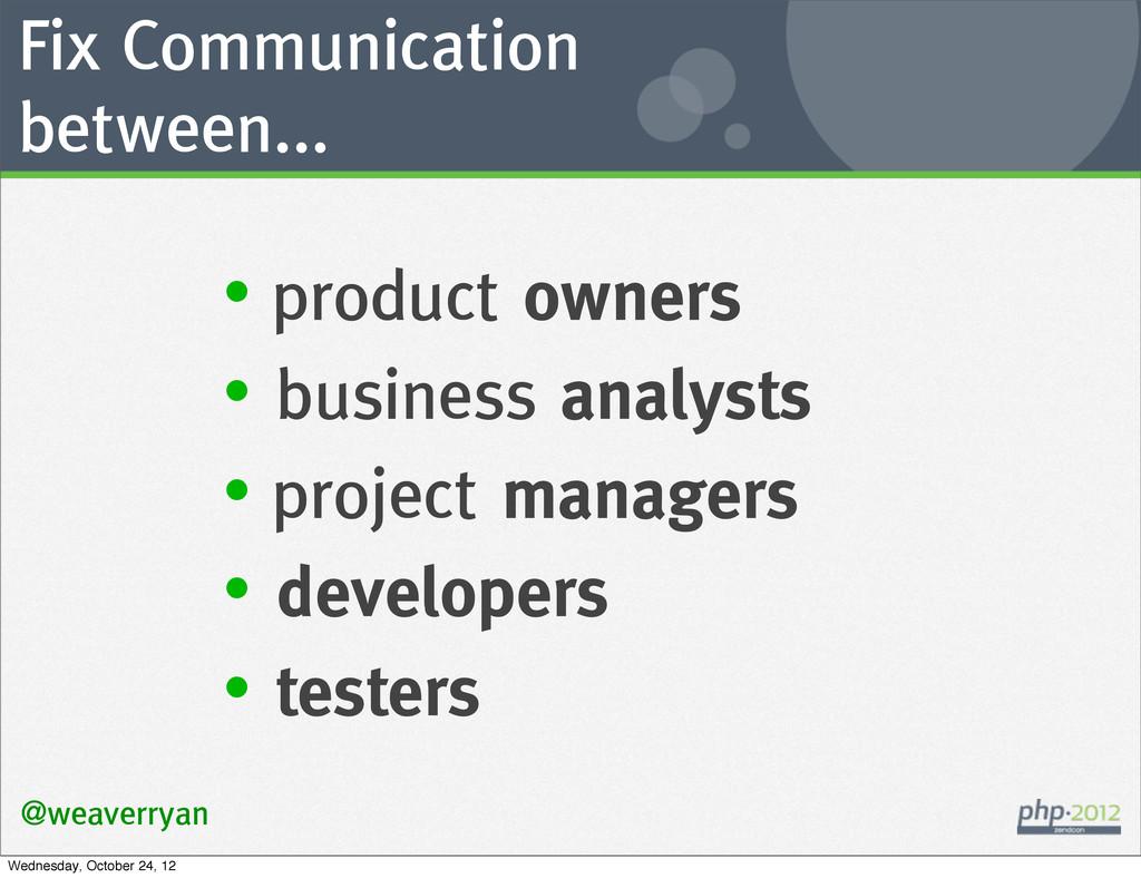 Fix Communication between... @weaverryan • prod...