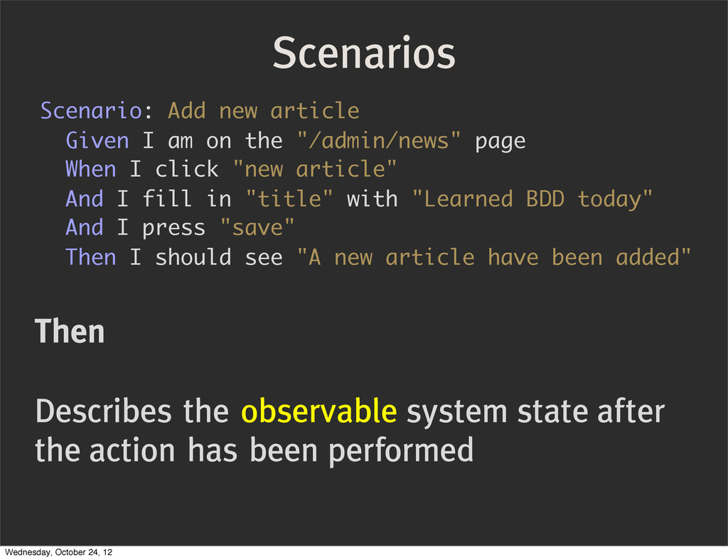 """Scenario: Add new article Given I am on the """"/a..."""