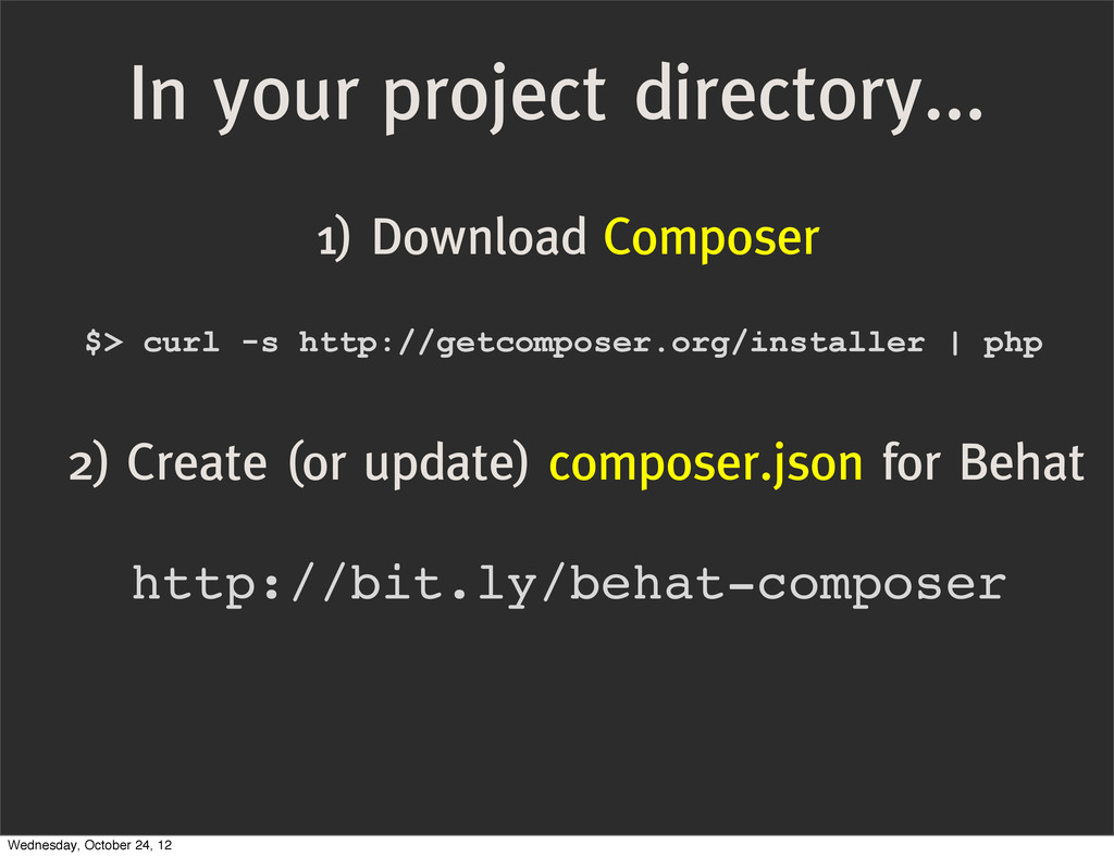In your project directory... 1) Download Compos...