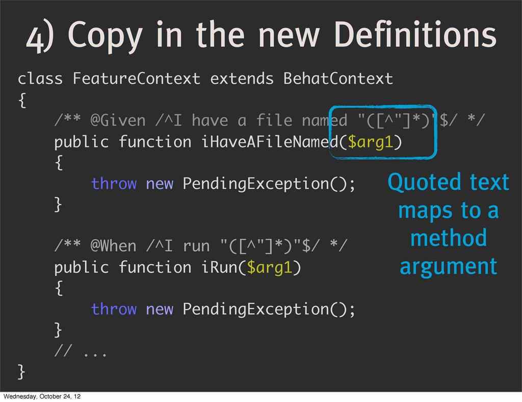 class FeatureContext extends BehatContext { /**...