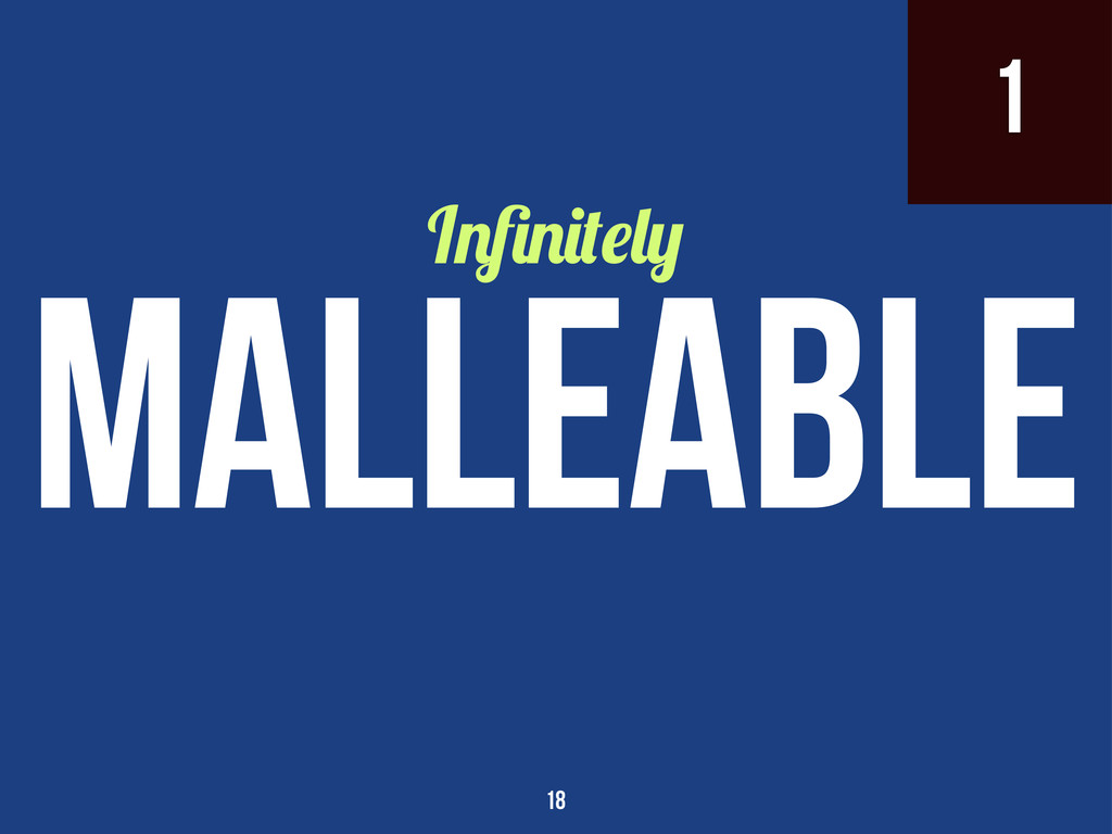 1 I malleable 18