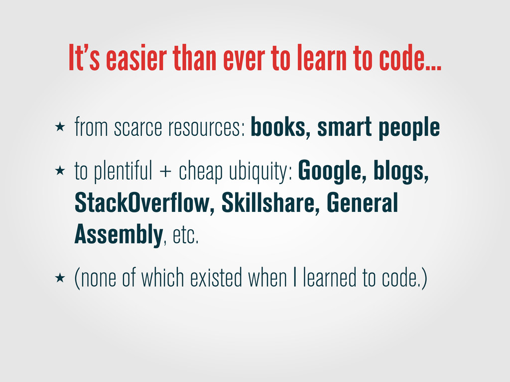 It's easier than ever to learn to code… ★ from ...