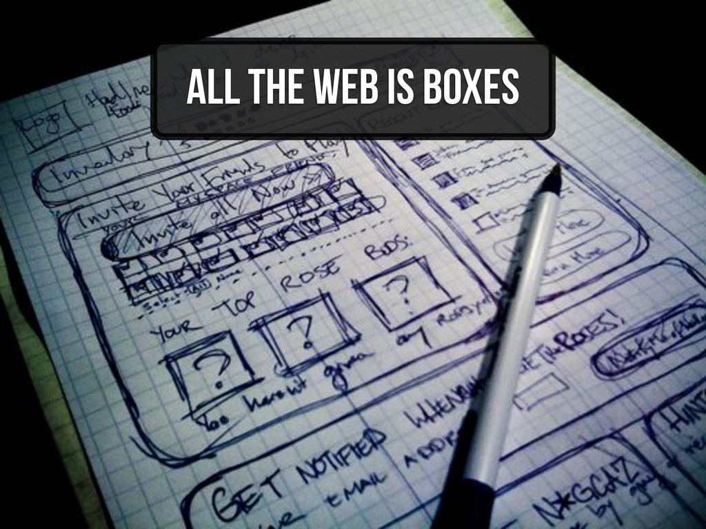 All the web is boxes