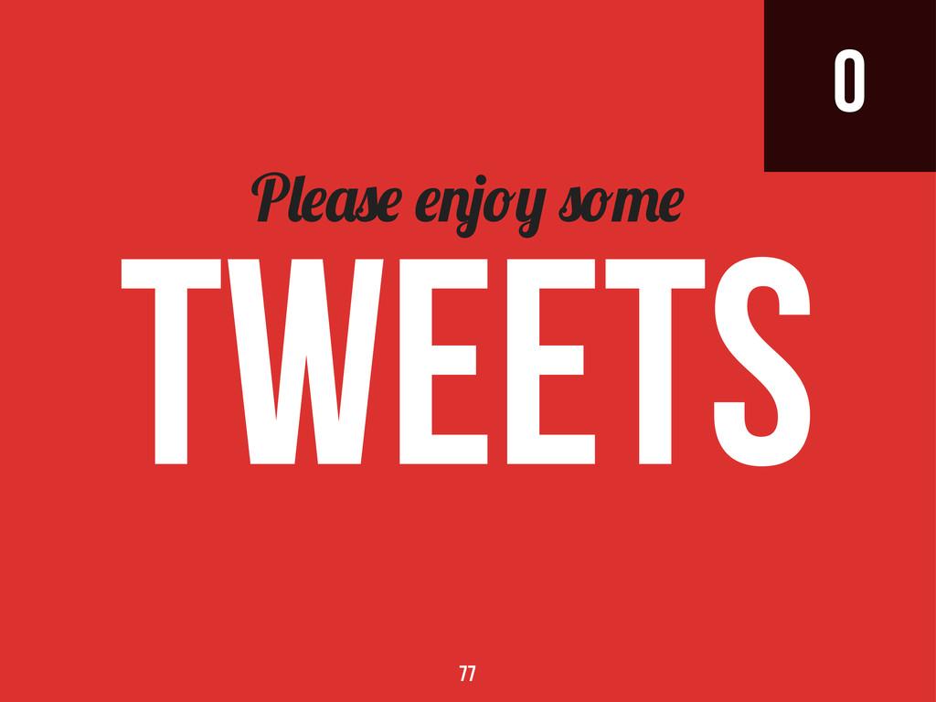 0 P tweets 77
