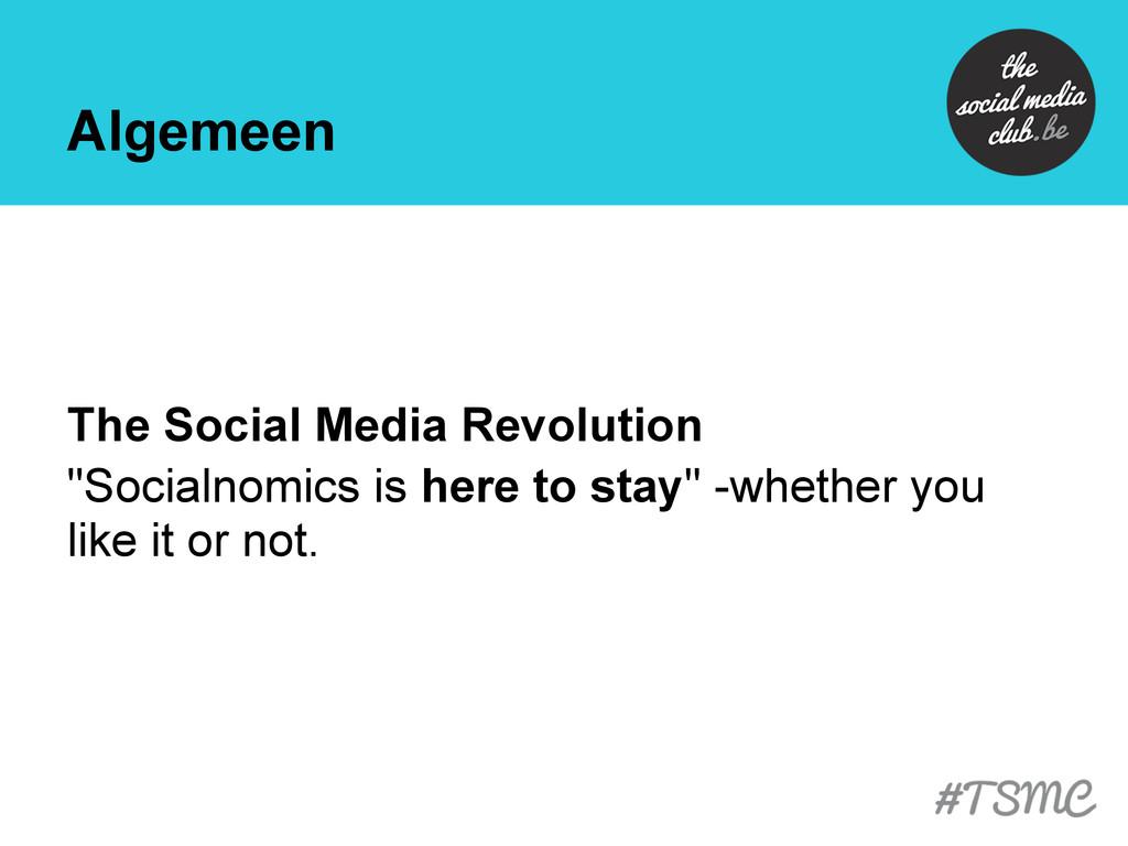 """Algemeen The Social Media Revolution """"Socialnom..."""