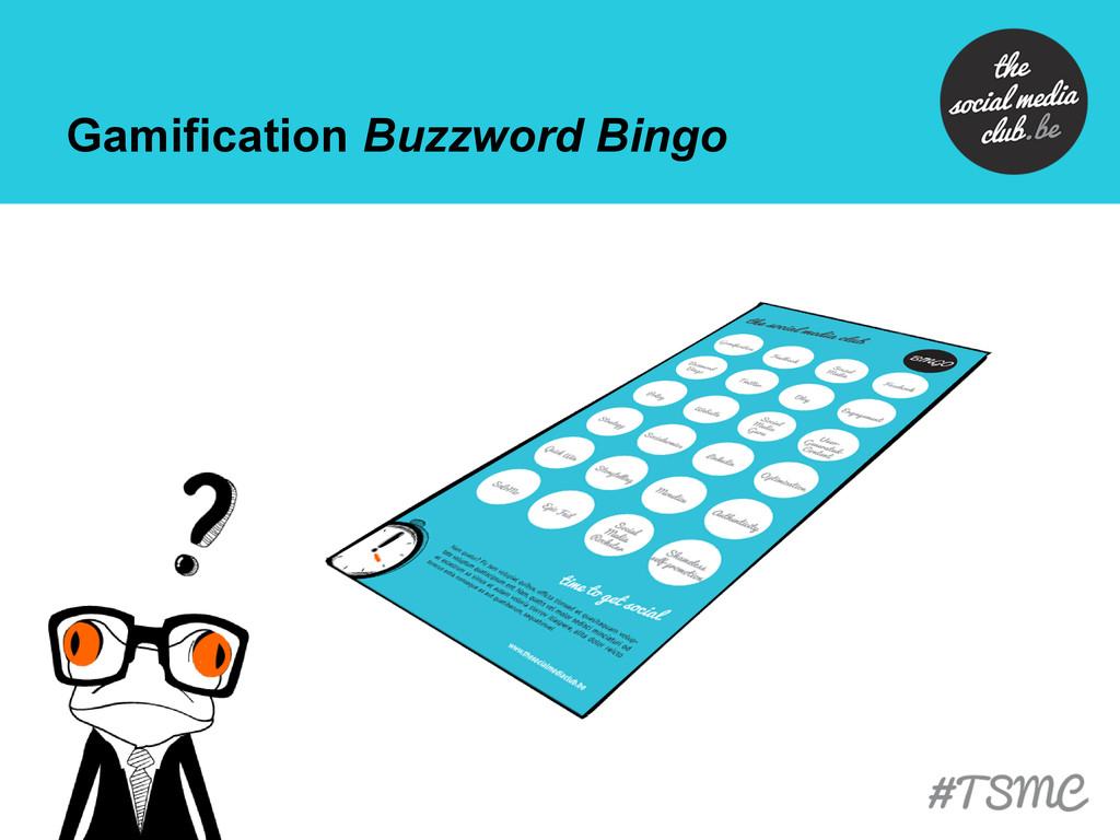 Gamification Buzzword Bingo