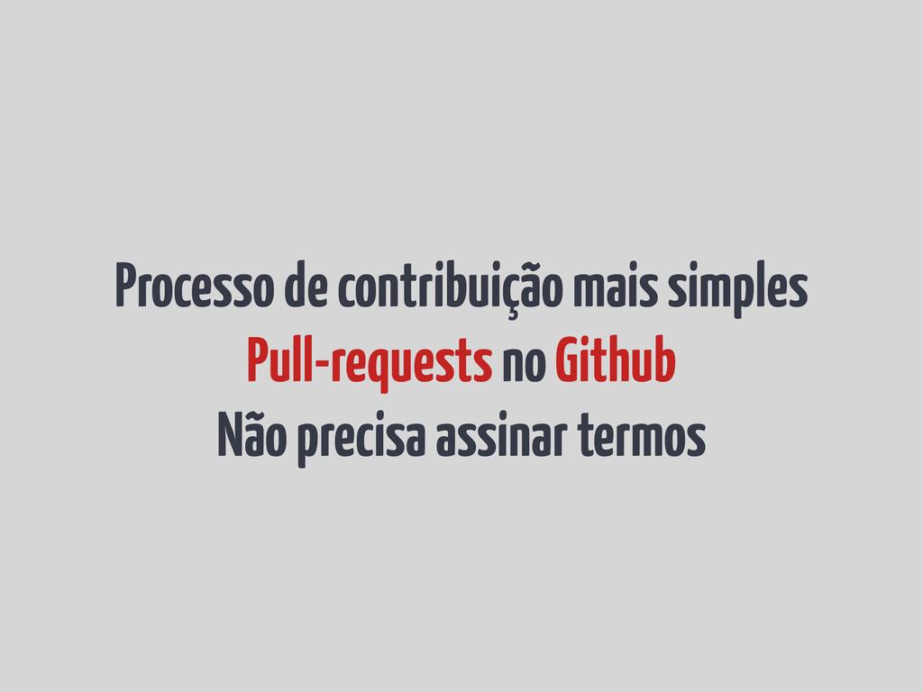 Processo de contribuição mais simples Pull-requ...