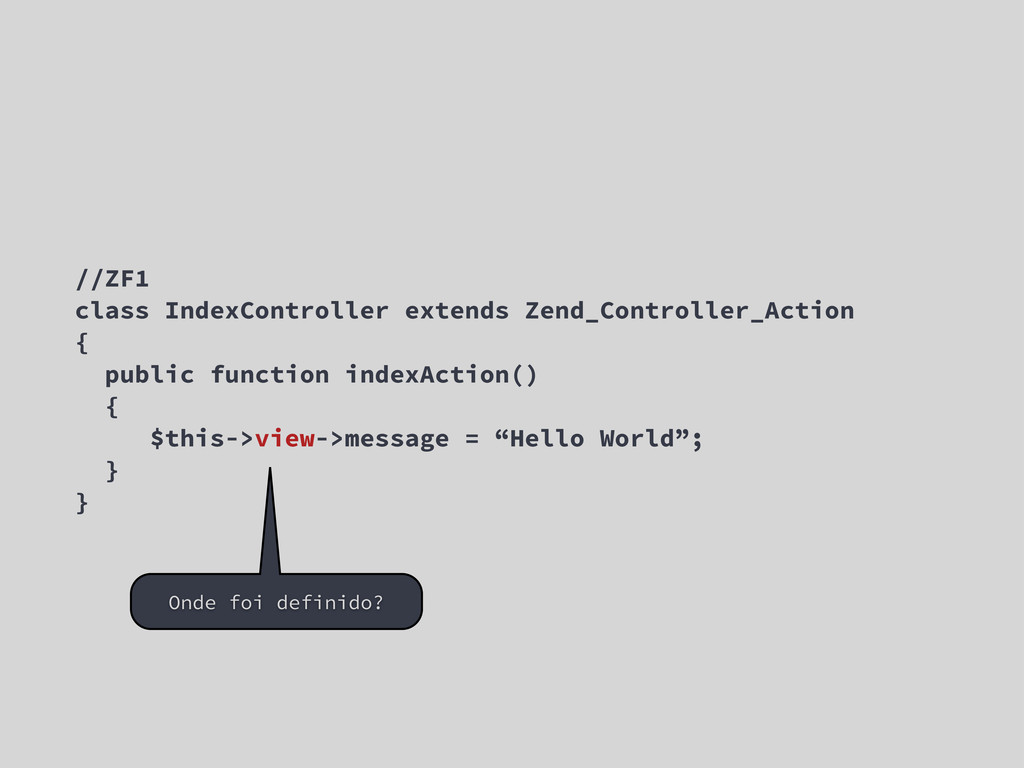 //ZF1 class IndexController extends Zend_Contro...