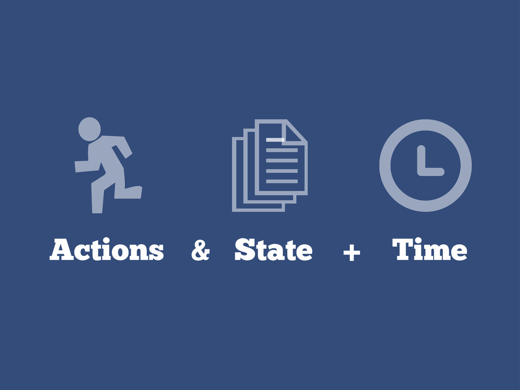 Actions & State + Time