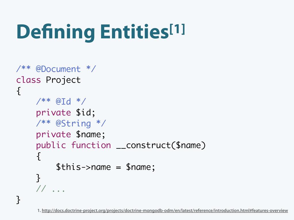 De ning Entities[1] /** @Document */ class Proj...