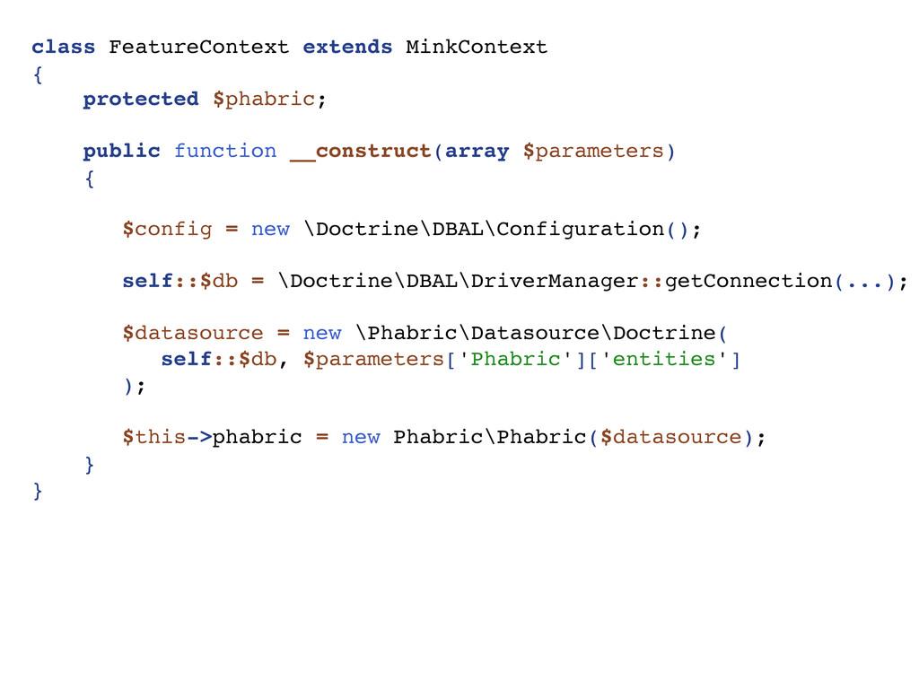 class FeatureContext extends MinkContext { prot...