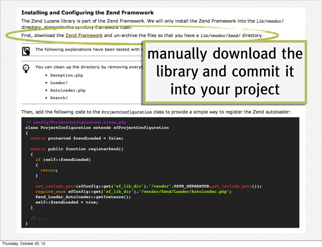 manually download the library and commit it int...