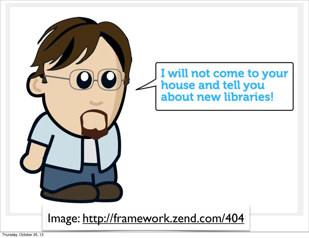 Image: http://framework.zend.com/404 Thursday, ...