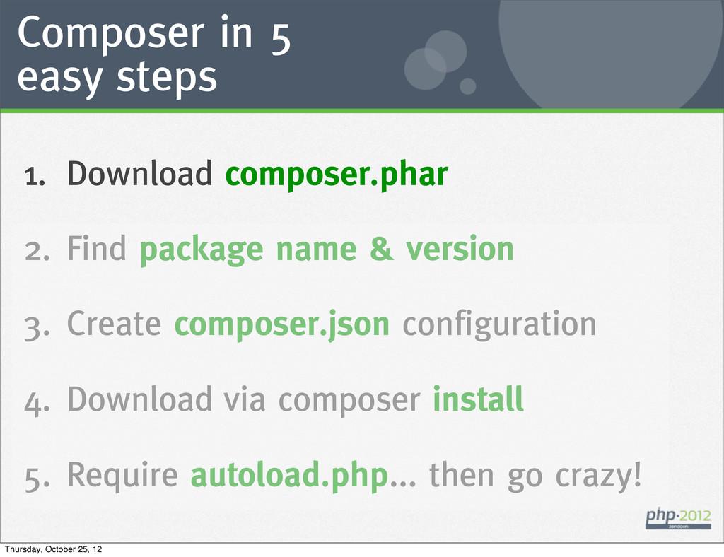 Composer in 5 easy steps 1. Download composer.p...
