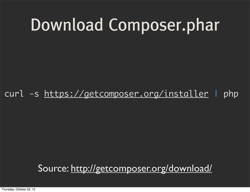 curl -s https://getcomposer.org/installer   php...
