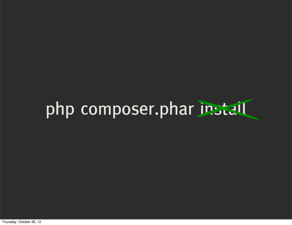 php composer.phar install Thursday, October 25,...